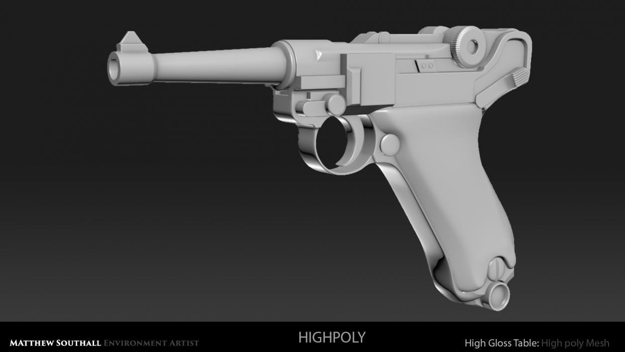LugerShot Highpoly