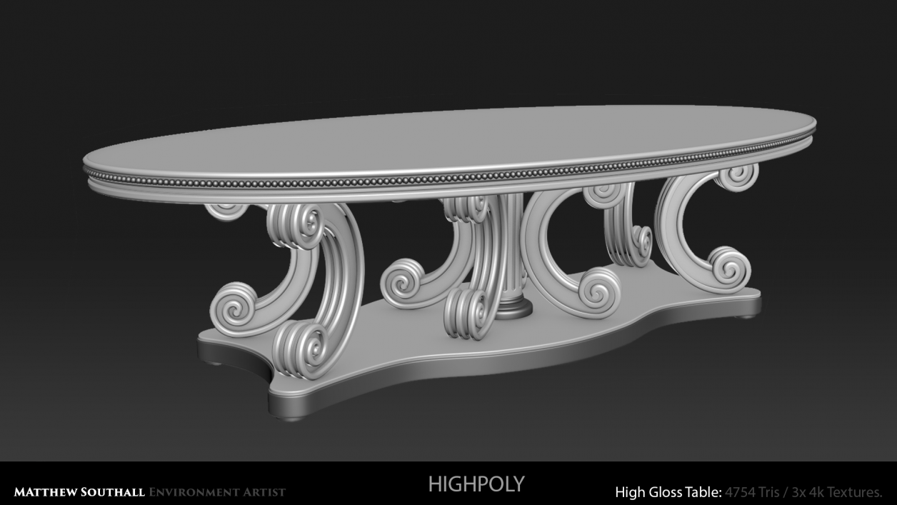 Highpoly High Gloss Table