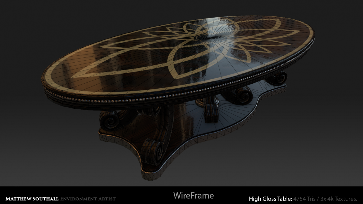 Wireframe High Gloss Table